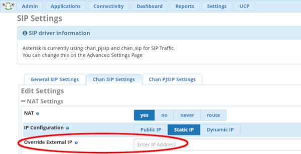LYLIX LLC - Knowledgebase - Changing the IP address in PBX